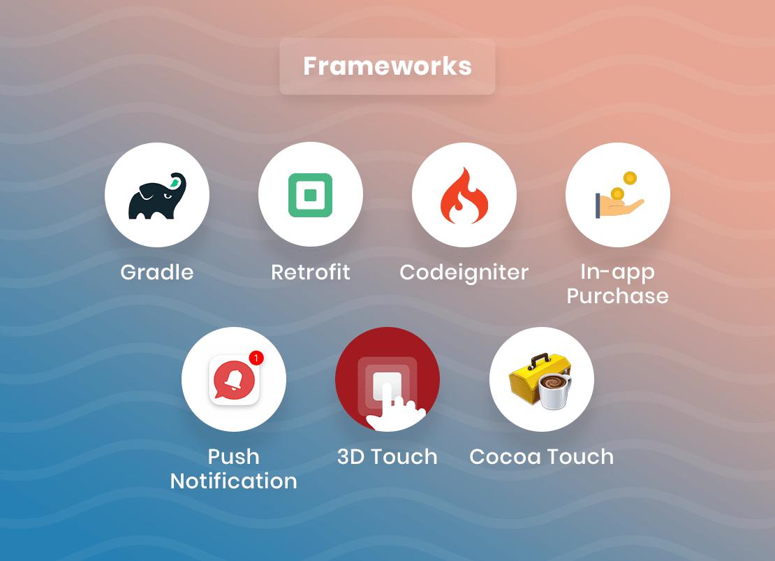 Frameworks used for video streaming app development