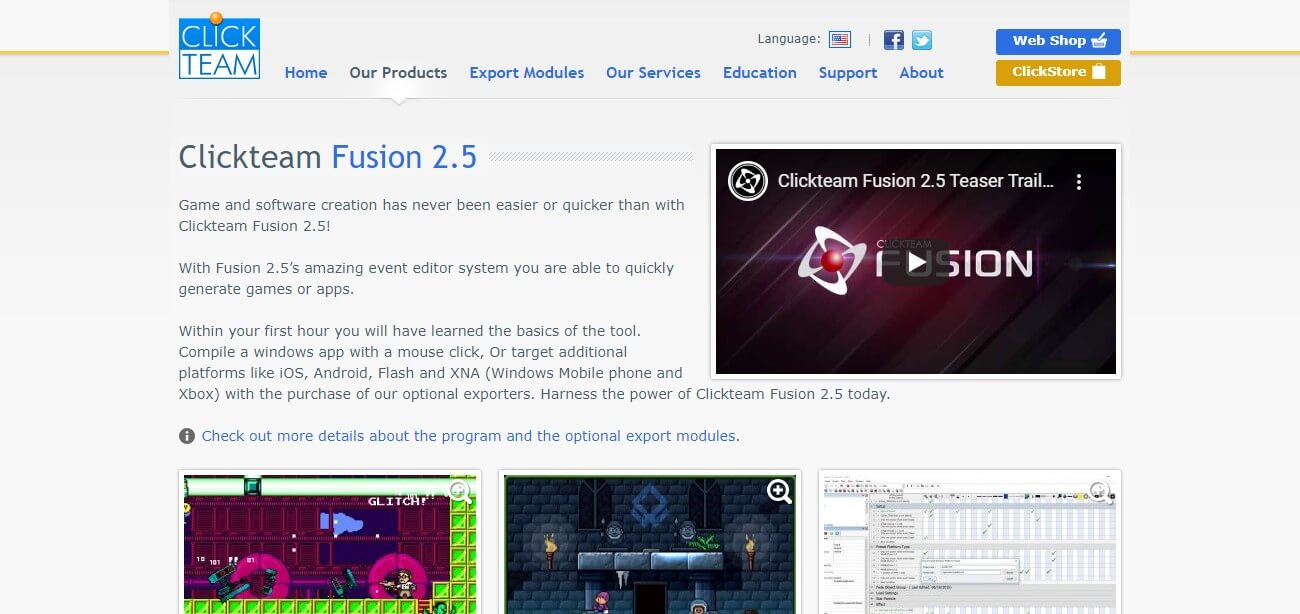 Clickteam Fusion 2.5 Software