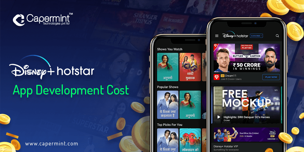 Disney+ Hotstar App Development Cost