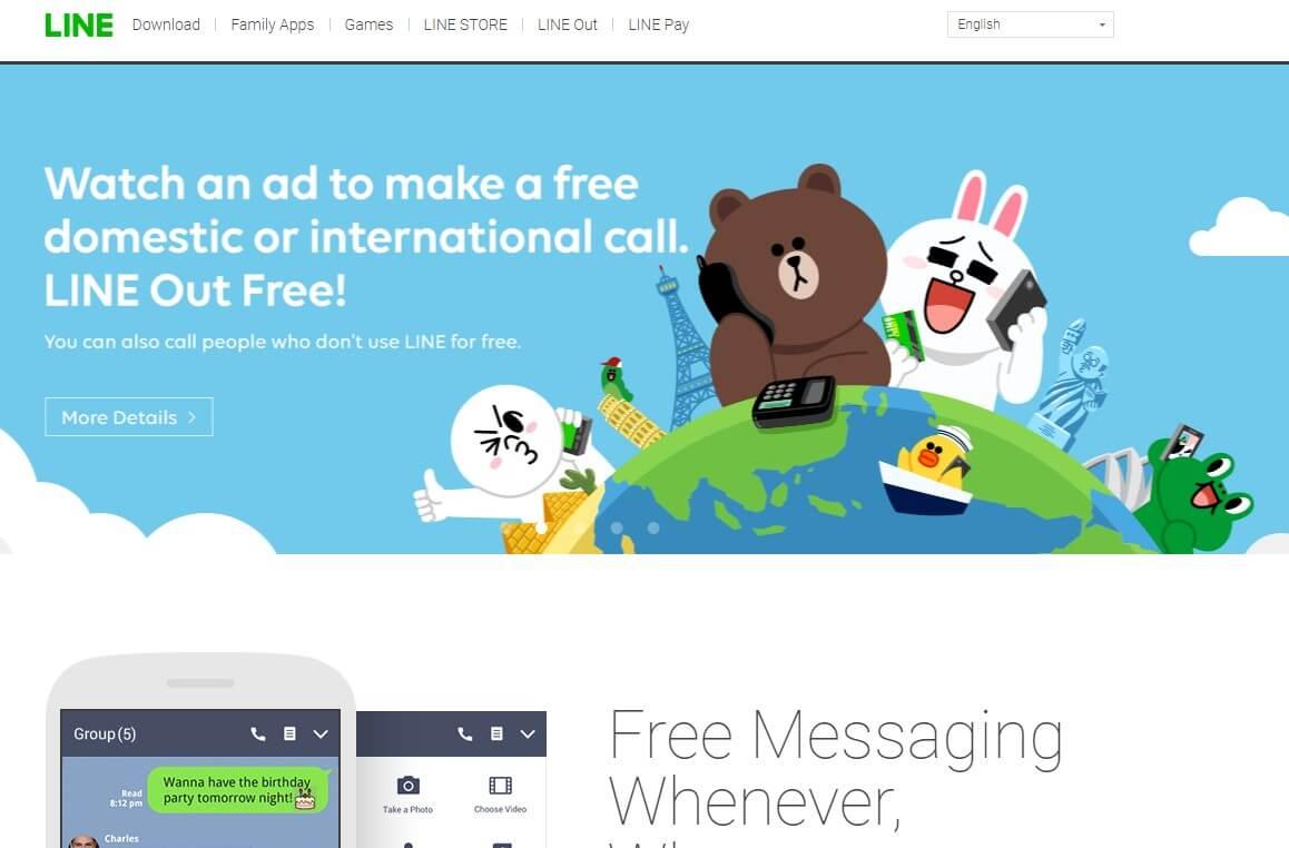 Line messenger app