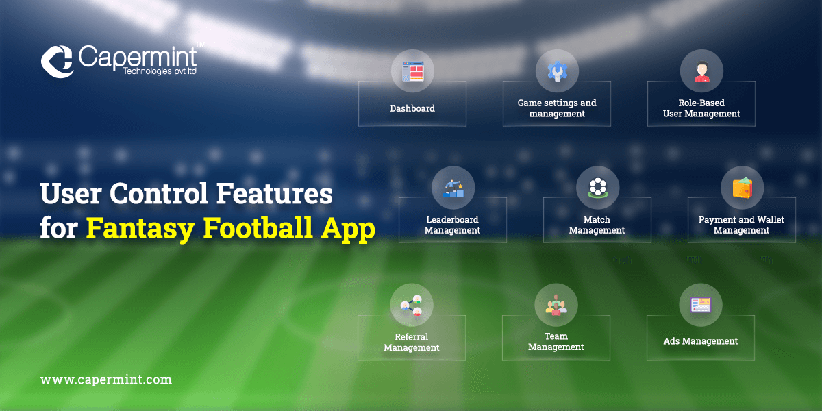 User Control Features for Fantasy Football App